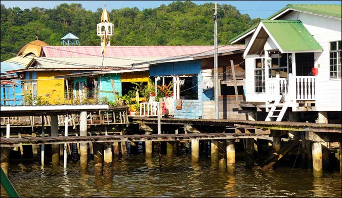 "BRU The water village ""Kampong Ayer"""