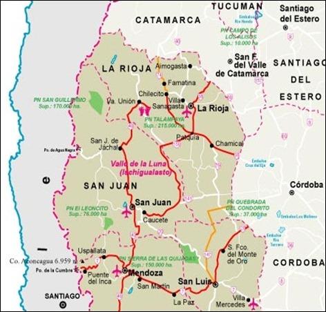 talamp mapa Cuyo