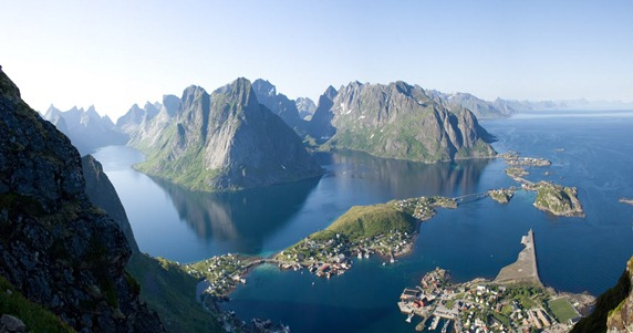reinefjord från reinebringen