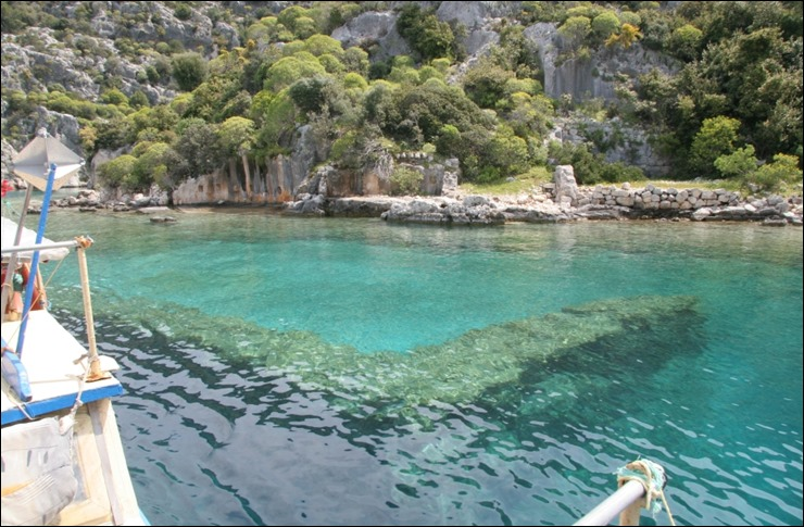 Simena sunken city in Kekova Antalya