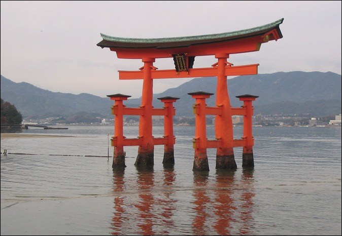 Japan, Miyajima, Itsukushima Shrine, O-Torii-Tor