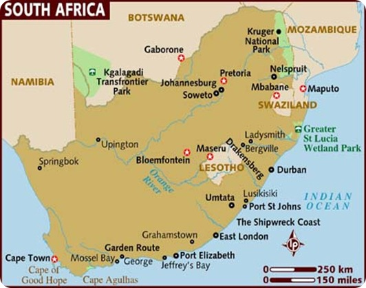 south-africa MAPA