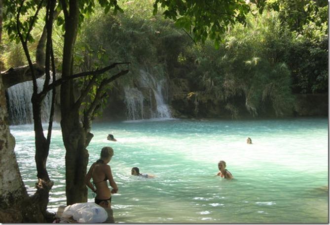 LA Huang Si Waterfalls